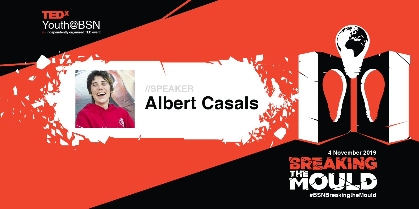 """Rolling from """"the way things should be"""" towards """"finding your own way""""   Albert Casals   TEDxYouth@BSN Speaker"""