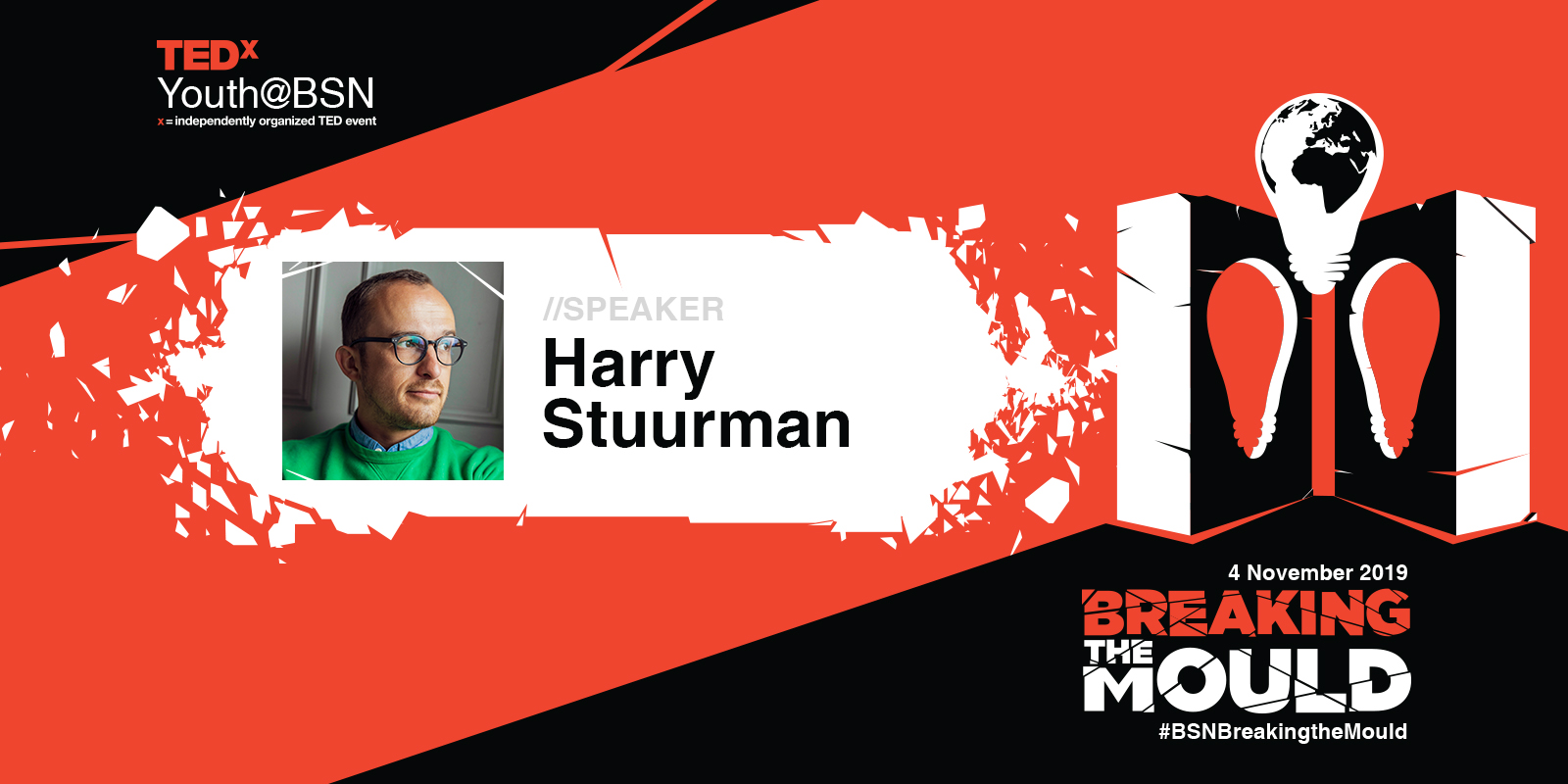 Accept yourself, break the mould and embrace your true, creative self | Harry Stuurman | TEDxYouthBSN Speaker